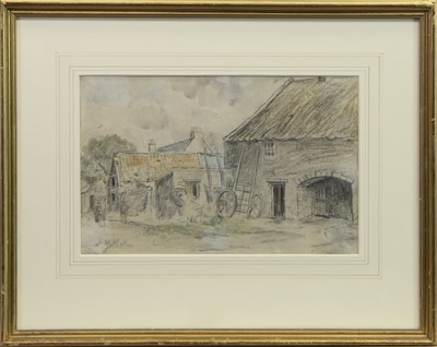 Lot 94 - AT YETHOLM, A PENCIL ATTRIBUTED TO TOM SCOTT