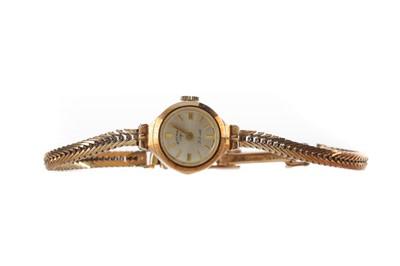 Lot 918 - A LADY'S ROTARY NINE CARAT GOLD MANUAL WIND WRIST WATCH