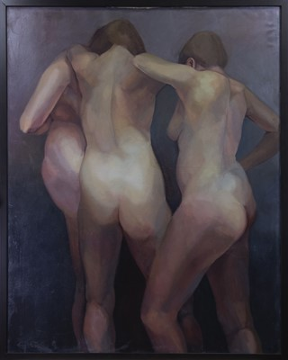 Lot 120 - THREE GRACES, AN OIL BY GREER RALSTON