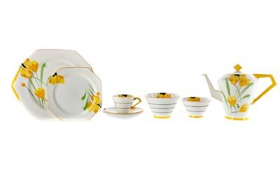 Lot 1037 - A PARAGON ART DECO TEA SERVICE