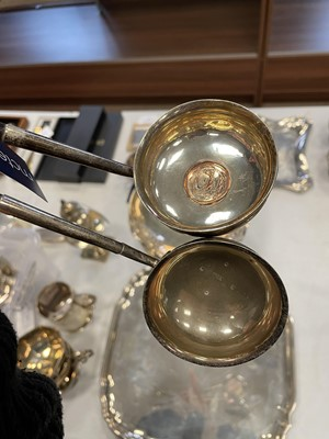 Lot 468 - A VICTORIAN SILVER TODDY LADLE AND ANOTHER