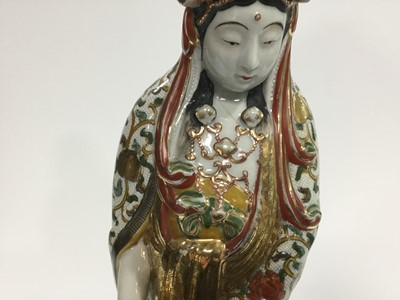 Lot 810 - AN EARLY 20TH CENTURY CHINESE FIGURE OF GUANYIN