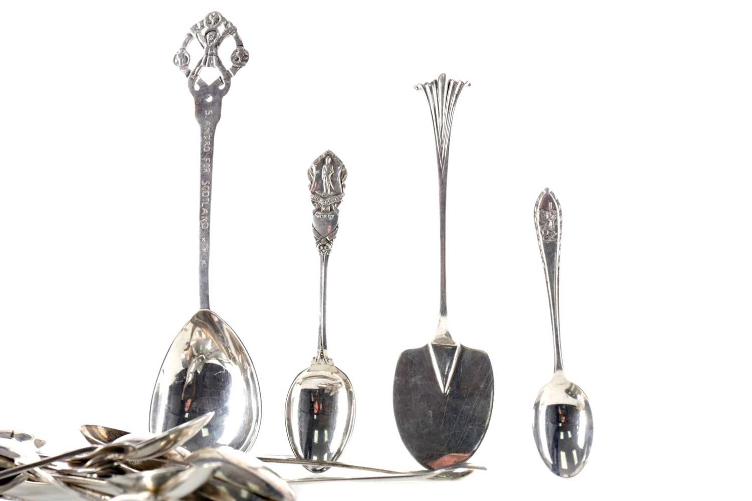 Lot 480 - A COLLECTION OF SILVER SPOONS