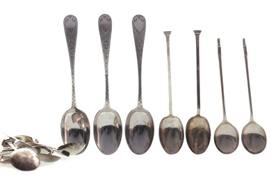 Lot 481 - A LOT OF FOUR SETS OF SILVER SPOONS