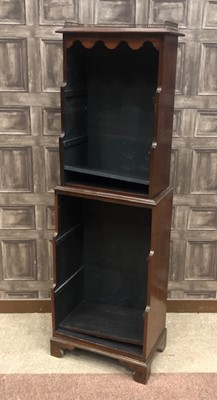 Lot 1370 - A VICTORIAN MAHOGANY TWO STAGE OPEN WATERFALL BOOKCASE