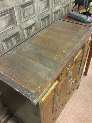 Lot 795 - A LATE 19TH CENTURY KOREAN WOOD CHEST