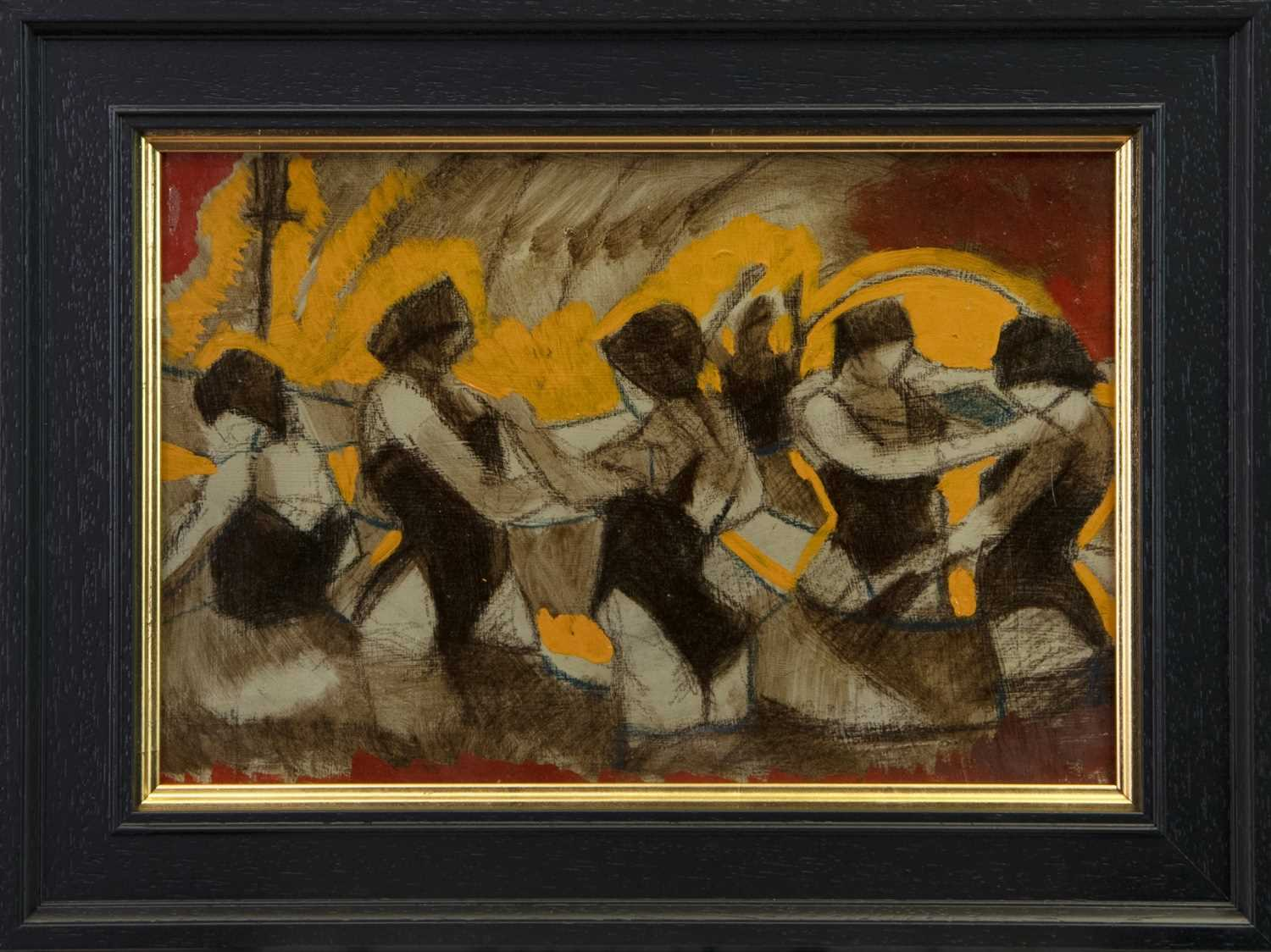 Lot 40 - SUNSET DANCERS, A MIXED MEDIA BY JAMIE O'DEA