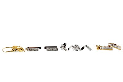 Lot 303 - FOUR PAIRS OF EARRINGS