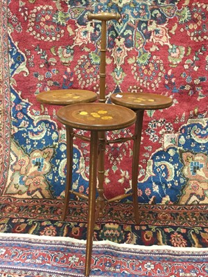 Lot 1302-AN INLAID CAKE STAND