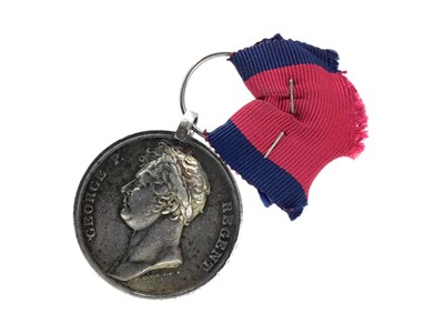 Lot 1431 - AN 1815 WATERLOO MEDAL AWARDED TO RICHARD ROOKE