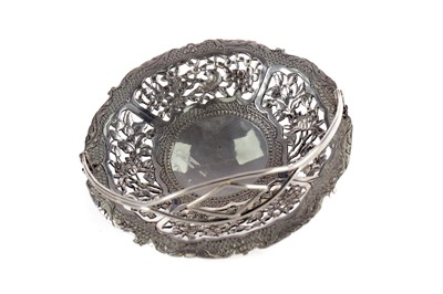 Lot 715 - A CHINESE SILVER DISH