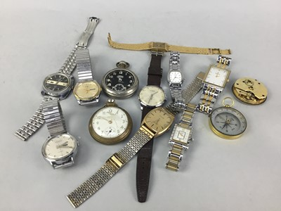 Lot 7-A COLLECTION OF WRIST AND POCKET WATCHES