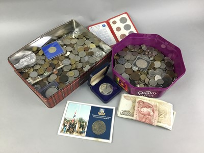 Lot 15-A COLLECTION OF COINS AND BANKNOTES