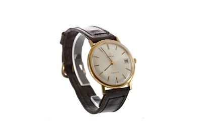 Lot 931 - A GENTLEMAN'S OMEGA GENEVE GOLD PLATED MANUAL WIND WRIST WATCH
