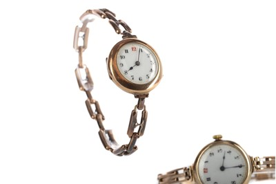 Lot 932 - TWO LADY'S NINE CARAT GOLD WRIST WATCHES