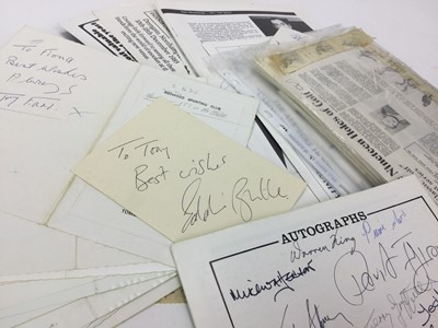 Lot 1767 - A COLLECTION OF SIGNED SPORTING DINNER SHEETS