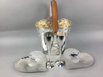Lot 23-A CONTEMPORARY CHAMPAGNE BUCKET AND OTHER ITEMS