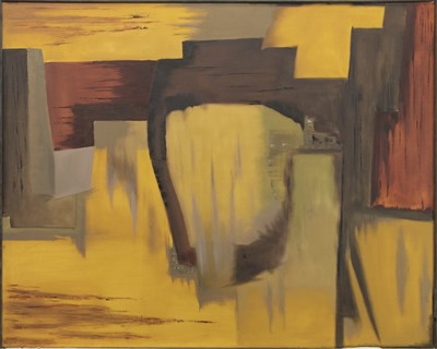 Lot 82 - AN ABSTRACT OIL BY ED SPITERI