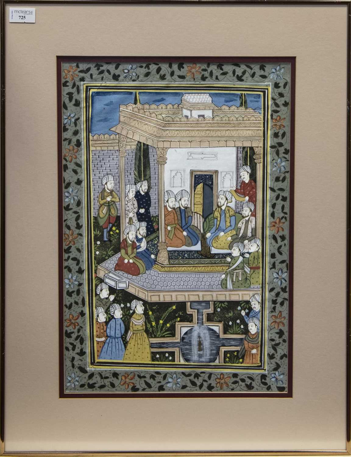 Lot 725 - A 20TH CENTURY INDIAN PAINTING ON FABRIC