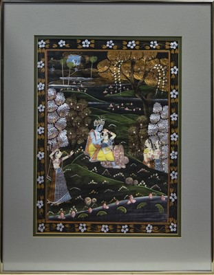 Lot 730 - A 20TH CENTURY INDIAN PAINTING