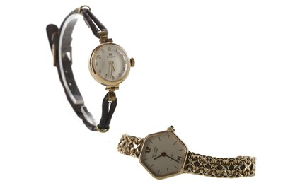 Lot 941 - TWO NINE CARAT GOLD LADY'S WRIST WATCHES