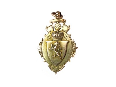 Lot 1777 - JOHN CAMERON OF PARTICK THISTLE - HIS GREENOCK & DISTRICT CHARITY CUP GOLD MEDAL 1893