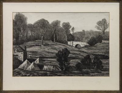 Lot 3 - KEIR, DUNBLANE, A MIXED MEDIA BY W M MACGREGOR