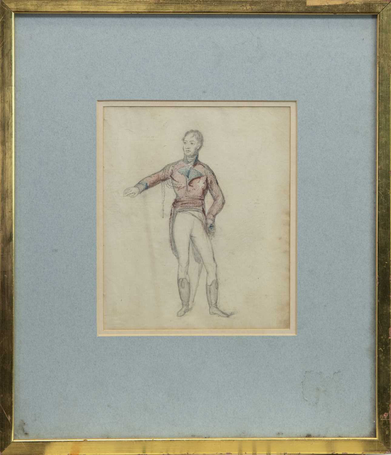 Lot 4 - FIGURE SKETCH BY THOMAS COOLEY