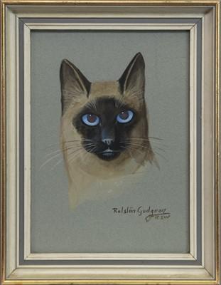 Lot 14 - SIAMESE CAT, A GOUACHE BY RALSTON GUDGEON