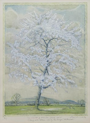 Lot 19 - CHERRY BLOSSOMS, AN ARTISTS PROOF PRINT