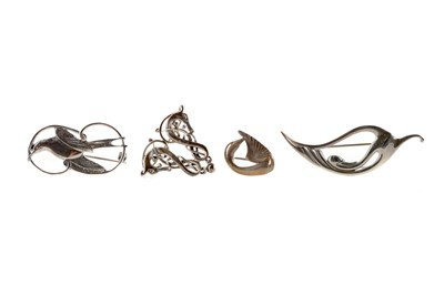 Lot 339 - A COLLECTION OF OLA GORIE AND OTHER SILVER JEWELLERY