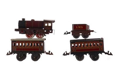 Lot 1652 - A BING TIN PLATE TRAIN SET