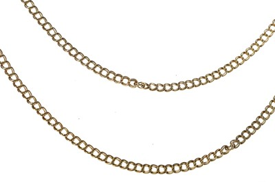 Lot 356 - TWO GOLD CHAINS