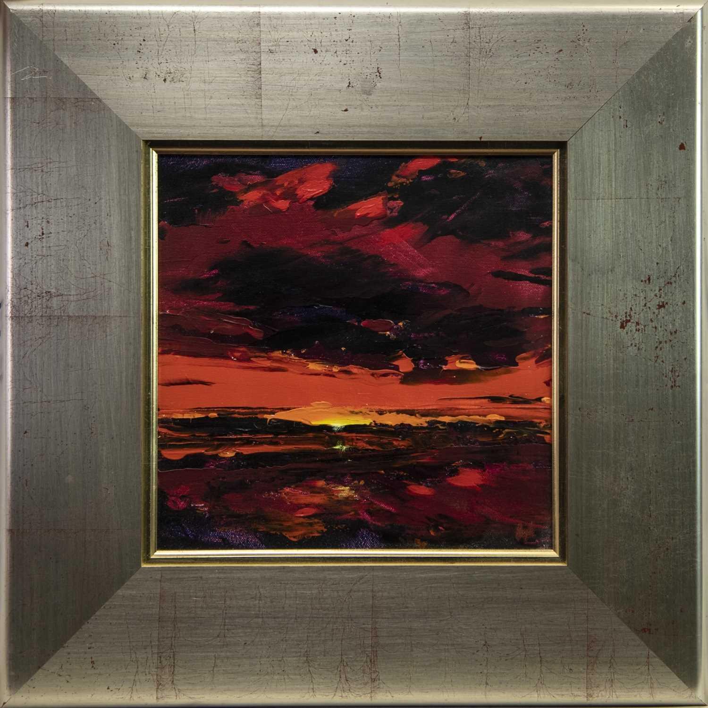 Lot 28 - EVENING SUN, AN ACRYLIC BY HUGH MURDOCH