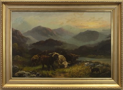 Lot 29 - MIDST HILL AND HEATHER, AN OIL BY A TAYLOR