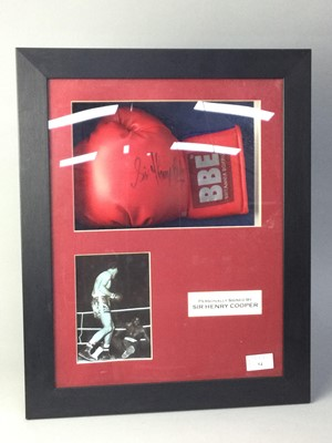 Lot 54 - A BOXING GLOVE SIGNED BY SIR HENRY COOPER