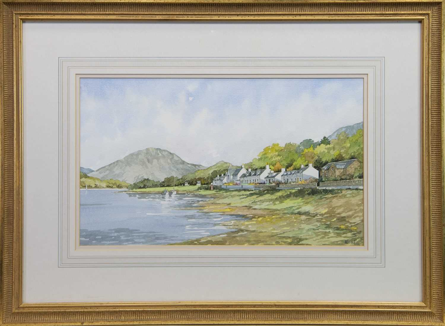 Lot 30 - PAIR OF WATERCOLOURS BY IRVINE RUSSELL