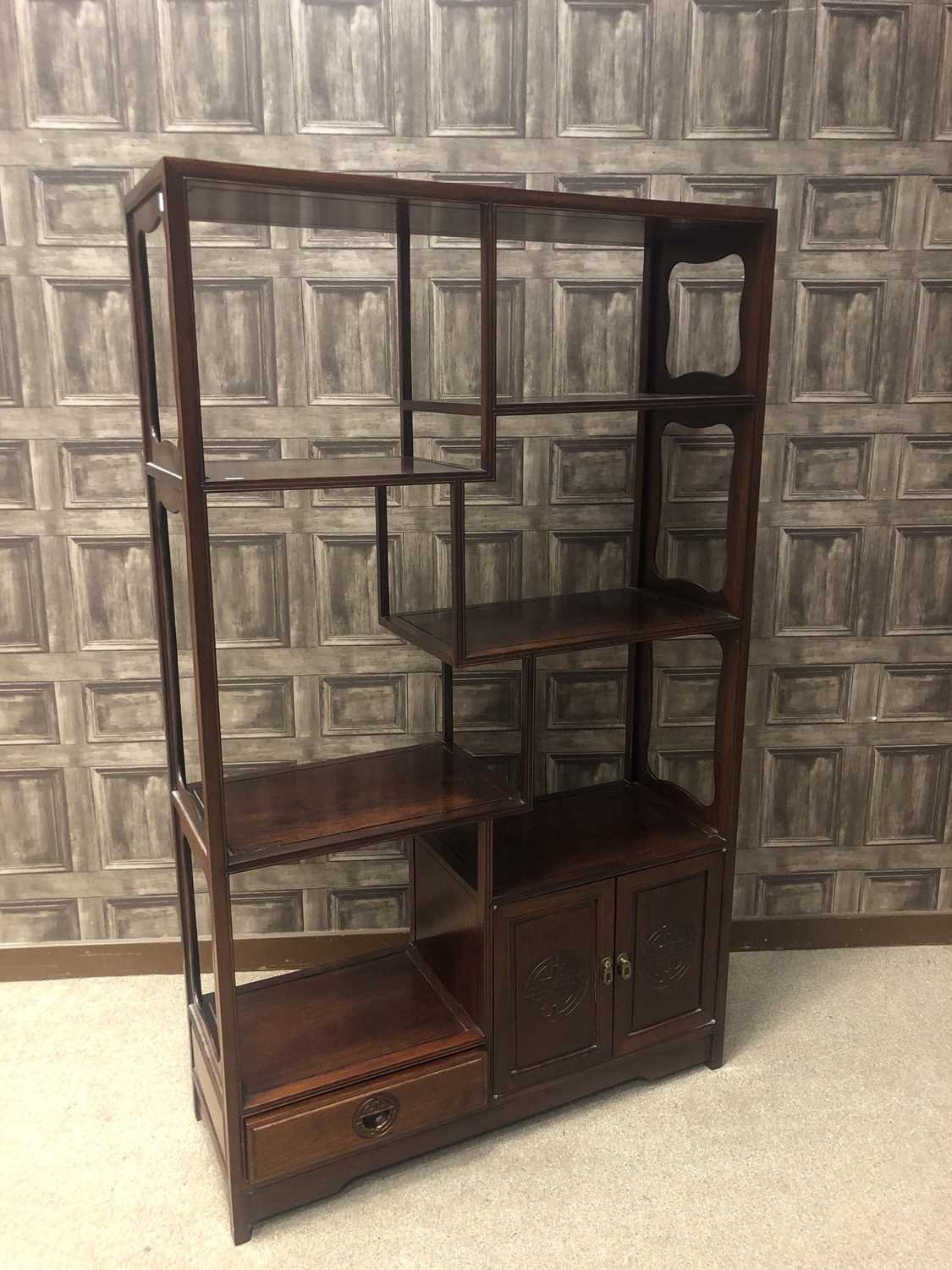 Lot 731 - A CHINESE STAGE CABINET