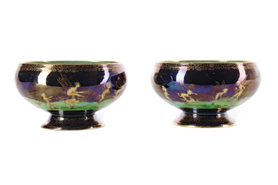 Lot 1047 - A PAIR OF WEDGWOOD FAIRYLAND LUSTRE BOWLS