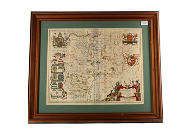 Lot 1617 - AN 18TH CENTURY MAP OF HUNTINGTONSHIRE
