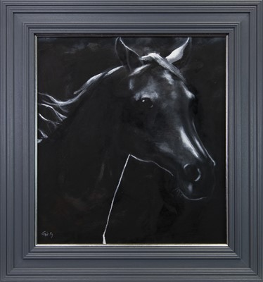 Lot 147 - OUT OF THE DARKNESS, AN OIL BY ROWENA LAING