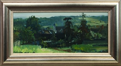 Lot 198 - EVENING LIGHT AT DESARTES II, AN OIL BY WILLIAM BIRNIE