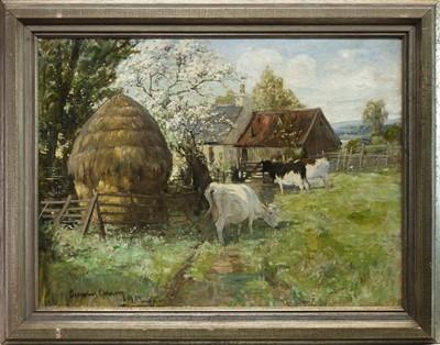 Lot 96 - SCOTTISH FARM, AN OIL BY JOSEPH DENOVAN ADAM