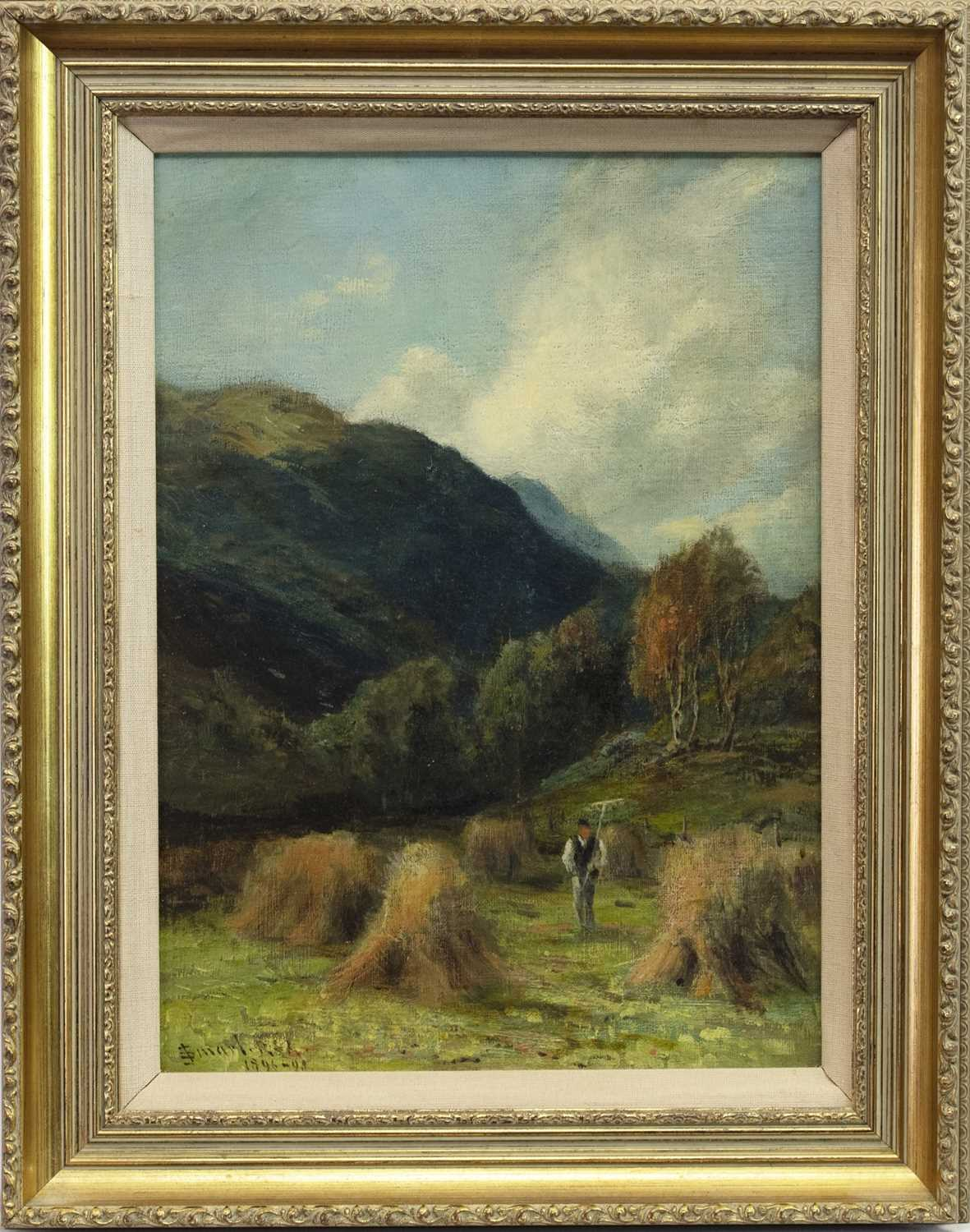 Lot 66 - DALCHULLY, STRATHCARN, AN OIL BY JOHN SMART