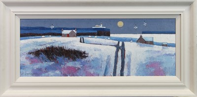 Lot 21 - SNOWY DAY, AN OIL BY DAVID BODY