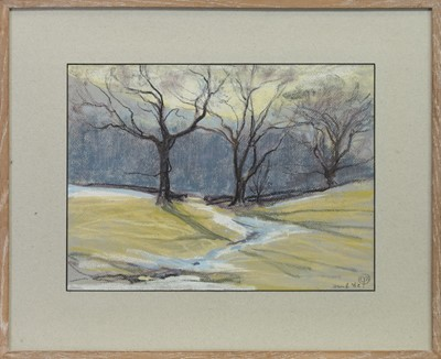 Lot 18 - BRANCHES, A PASTEL BY MARY YATES