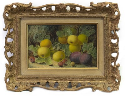 Lot 11 - FRUIT STUDY, AN OIL BY OLIVER CLARE