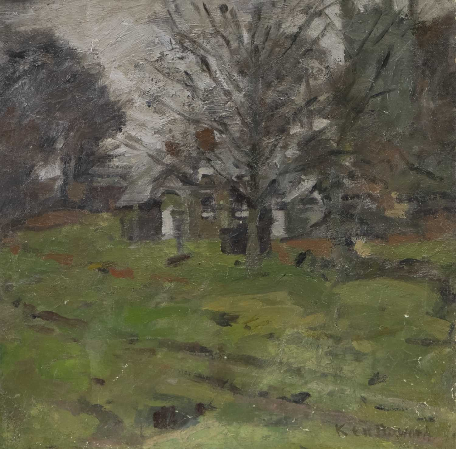 Lot 13 - STANFORD SPINEY, AN OIL BY KEN HOWARD
