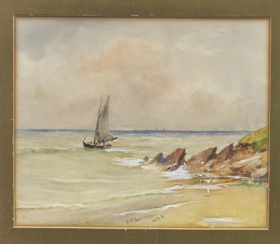 Lot 21 - SAILING, A MIXED MEDIA BY WILLIAM BINGHAM MCGUINNESS