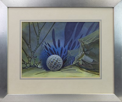 Lot 180 - ON THE EDGE, A WATERCOLOUR BY PETER ISSIT
